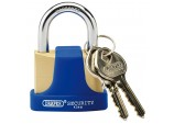 42mm Solid Brass Padlock and 2 Keys with Hardened Steel Shackle and Bumper
