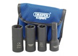 "1/2"" Sq. Dr. Wheel Nut Double Impact Socket Kit (4 Piece)"