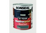 10 Year Weatherproof Wood Paint Satin 750ml - Grey