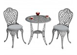 Ballygowan Bistro Set - Hammered Grey