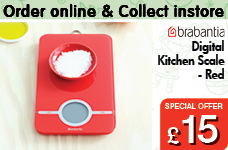Digital Kitchen Scale - Red – Now Only £15.00