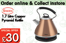 1.7Ltr Copper Pyramid Kettle – Now Only £30.00