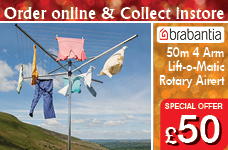 Lift-o-Matic Rotary Airer 50 Metres inc Metal Soil Spear – Now Only £50.00