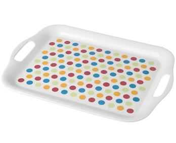 Melamine Tray - Polka – Now Only £2.00
