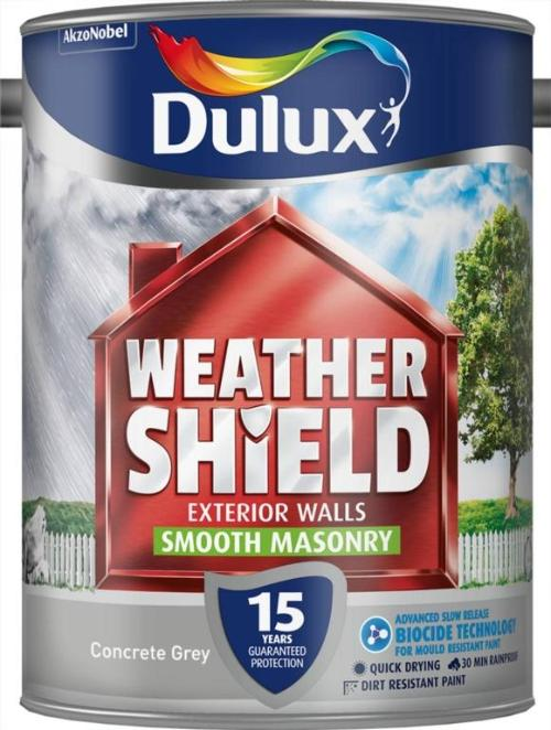 Smooth Masonry Paint 5L  - Concrete Grey – Now Only £23.00
