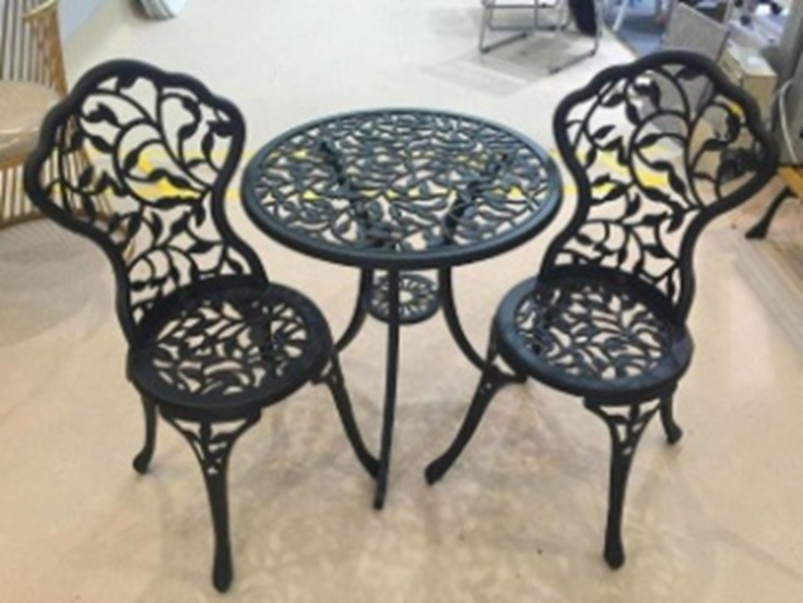 Leaf Pattern Cast Aluminium Bistro Set – Now Only £119.00