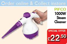 1000W Handheld Steam Cleaner - Purple – Now Only £22.50