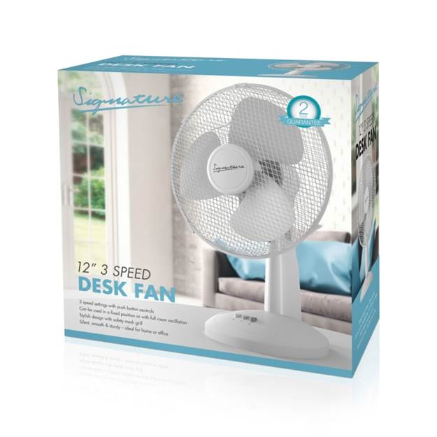 12 inch / 30cm Desk Fan – Now Only £16.00