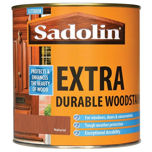 1 Litre Extra Durable Woodstain - Ebony – Now Only £18.00