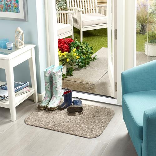 Machine Washable Door Mat 50 x 70cms - Linen – Now Only £10.00