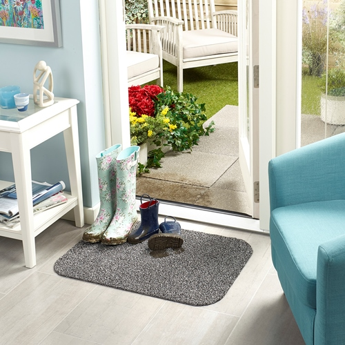 Machine Washable Door Mat 50 x 70cms - Slate – Now Only £10.00