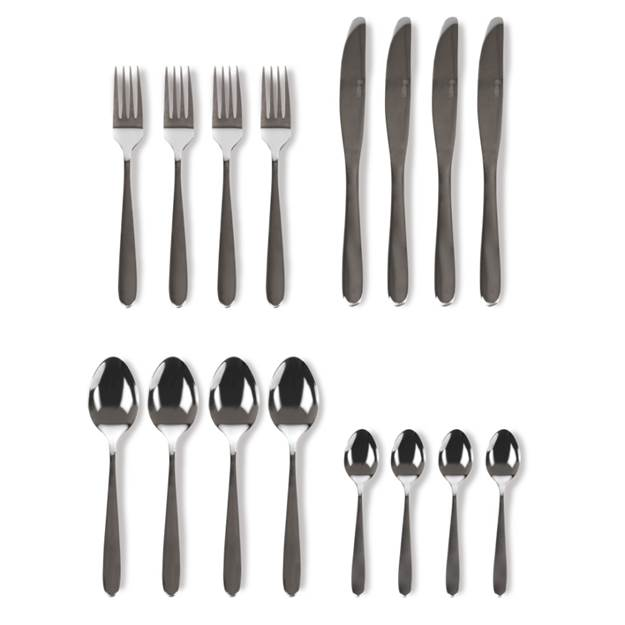 Lokom 16 piece Cutlery Set Stainless Steel – Now Only £10.00