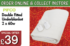 Double fitted Underblanket White 2 x 60w – Now Only £39.00