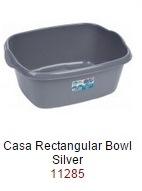 Casa 38cm Rectangular Bowl  - Silver – Now Only £2.00