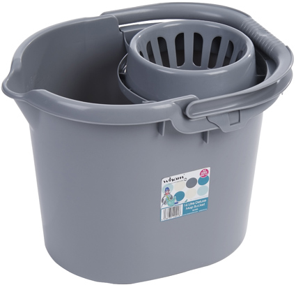 Casa 16L Mop Bucket - Silver – Now Only £5.00