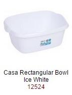 Casa 38cm Rectangular Bowl  - Ice White – Now Only £2.00