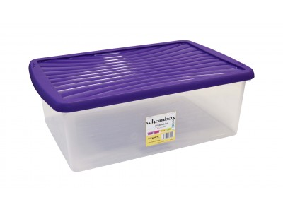 Box & Lid 37L Underbed Clear/Violet – Now Only £6.00