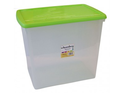 Wham®Box 90L Box & Lid (8.03) - Clear and lime – Now Only £12.00