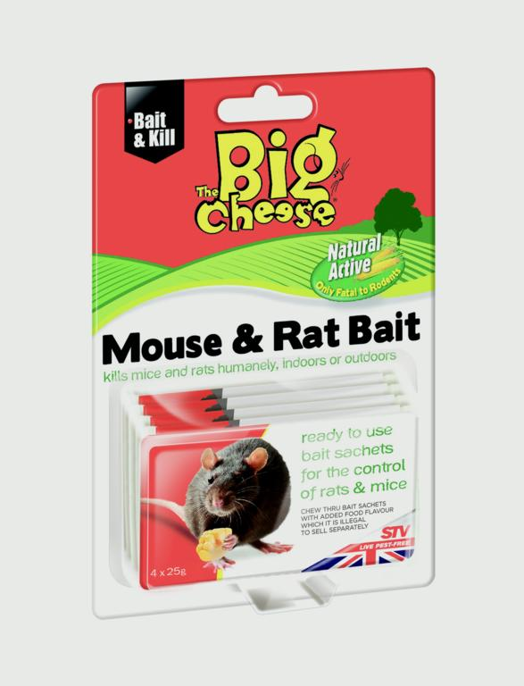 Mouse and Rat bait 4 x 25g Sachets – Now Only £4.00