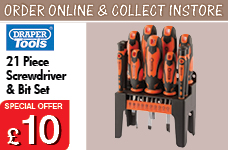 21 Piece Screwdriver and Bit Set – Now Only £10.00
