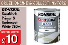 KnotBlock Primer & Undercoat White 750ml – Now Only £10.00