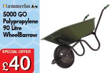 5000 GO Green Polypropylene 90L Pneumatic Barrow – Now Only £40.00