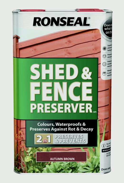 Shed Fence Preserver 5L - Autumn Brown – Now Only £32.00