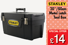 Metal Latch Tool Box - 20 – Now Only £14.00