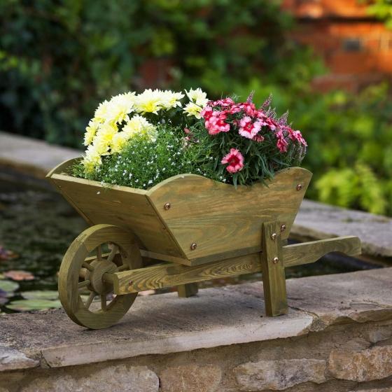 Woodland Wheelbarrow Planter Rustic Tan – Now Only £20.00