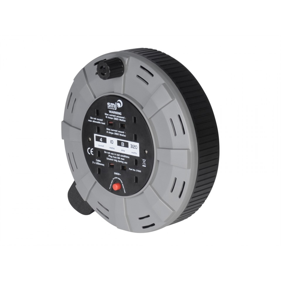 SMJ 10m 13a Socket Extension Reel – Now Only £12.00