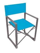 Vector Folding Director Chair - Blue
