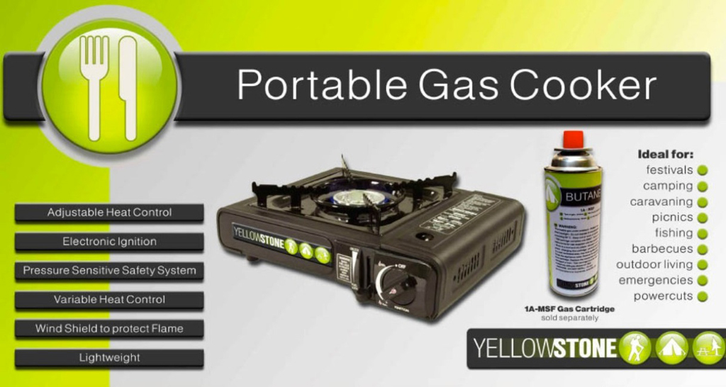 Portable Gas Stove - Black