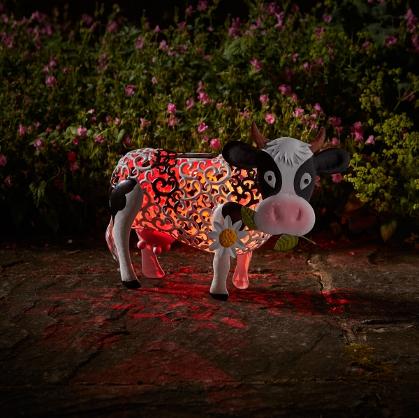 Solar Silhouette Daisy Cow – Now Only £19.00