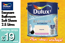EASY CARE Bathroom Soft Sheen Colours 2.5L  -  – Now Only £19.00