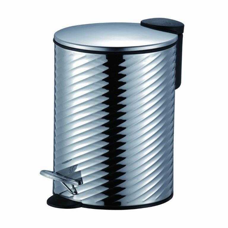Twist Chrome Pedal Bin Slow Close 3L - Stainless Steel – Now Only £9.00