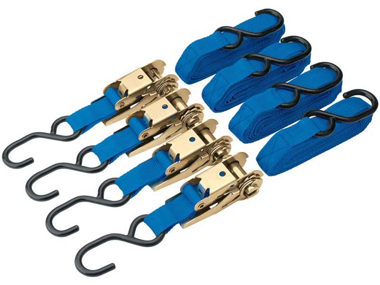 375kg Ratcheting Tie Down Strap Set (4 Piece) – Now Only £14.00