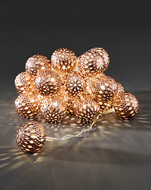 Light set with 24 Copper Coloured Metal Balls.  – Now Only £15.00