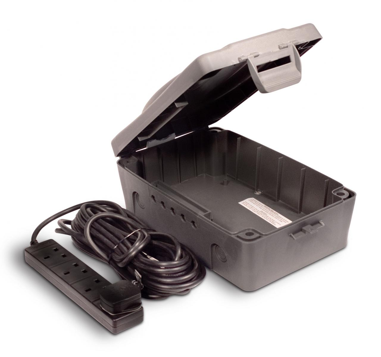 Outdoor IP54 Weatherproof Box with 13 amp 4 Gang Socket  – Now Only £20.00