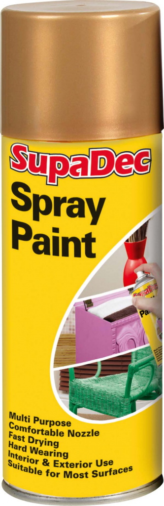 Spray Paint Gold 400ml  – Now Only £3.50