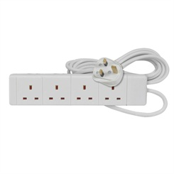 2m 4gang 13a Extension Lead  – Now Only £3.50