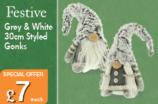 30cm Grey & White Gonks – Now Only £7.00