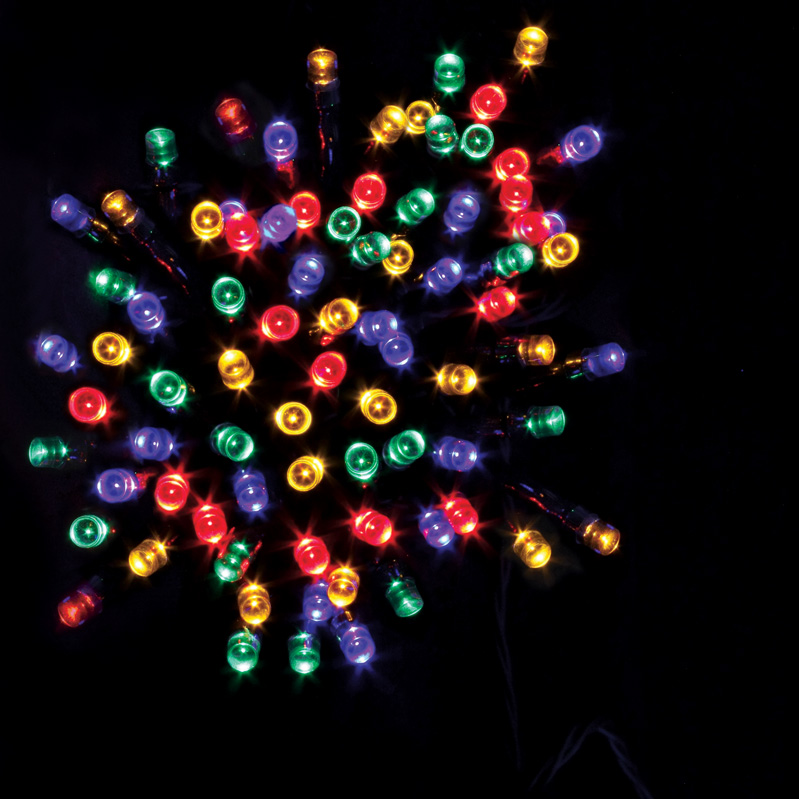 50 Battery operated LED timer lights- Multi colour – Now Only £4.00