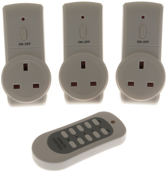 Remote Control Sockets - White - Set of 3 – Now Only £19.00