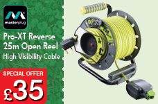 Pro-XT Reverse Open Reel High Visibility Cable - 25m – Now Only £35.00