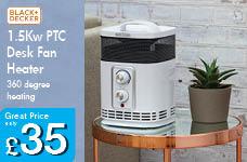 1.5KW PTC Desk Fan Heater – Now Only £35.00