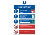 'Fire Action Procedure' Mandatory Sign