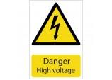 'Danger High Voltage' Hazard Sign