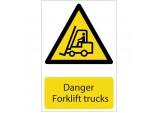 'Danger Forklift Trucks' Hazard Sign