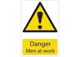 'Danger Men At Work' Hazard Sign
