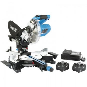 D20 20V Brushless 185mm Sliding Compound Mitre Saw Kit (Fast Charger)